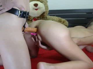 foxandfoxy teen cam girl pleasing her pink pussy with a favorite sex toy on cam