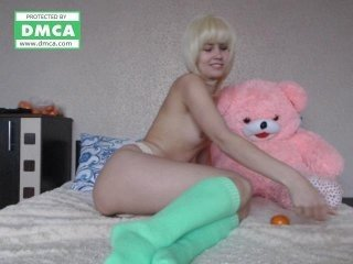 hentay- european cam girl fills her holes with huge sex toys on XXX cam