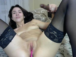 prettiagent russian cam girl loves fucks her anal with ohmibod on live cam